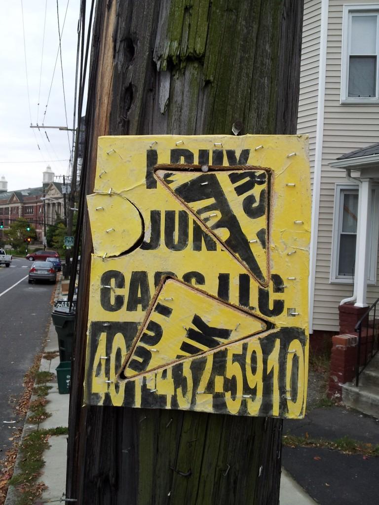 I Buy Junk Cars LLC, 4014325910, providence, street art, graffiti, fliers
