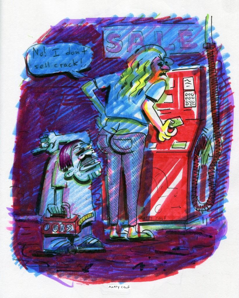 gas station scam, crack kills
