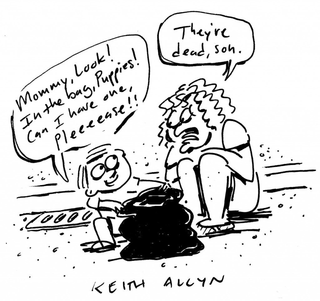 dead puppies, keithallyn, cartoon