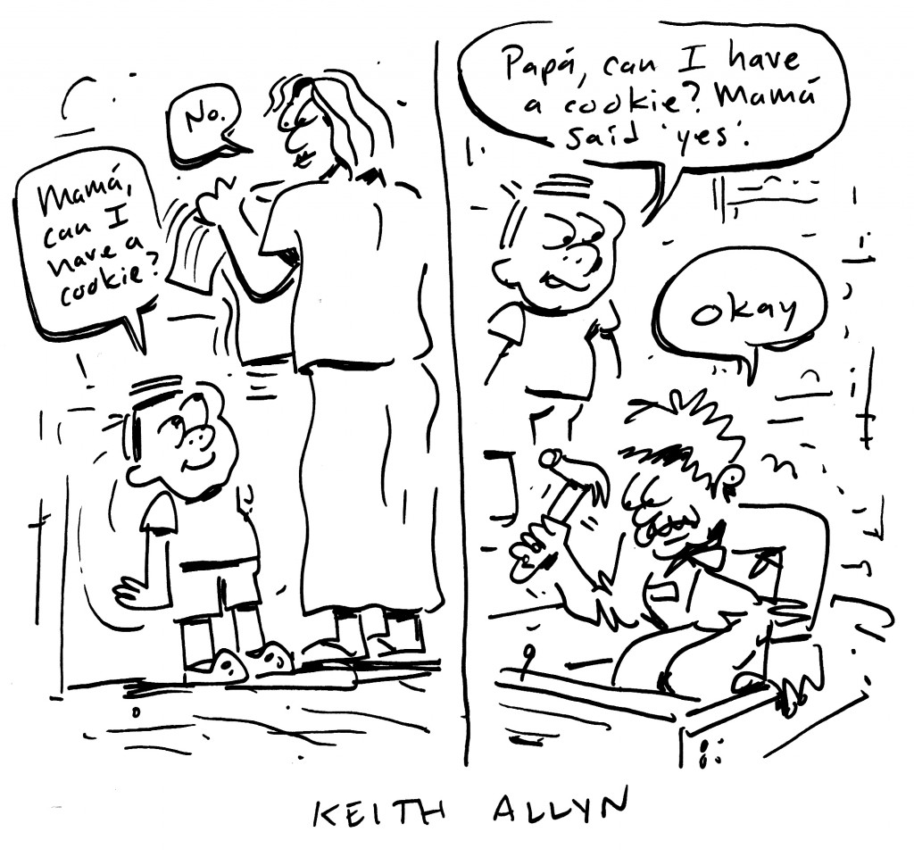 parents disagree, cartoon, keithallyn