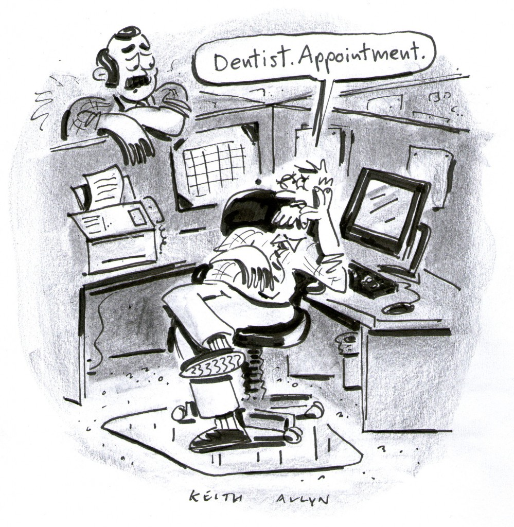 Dentist Appointment cartoon, keithallyn, happycalf