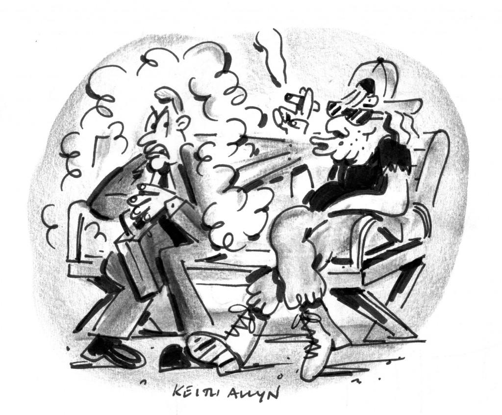 second hand smoke cartoon, happycalf