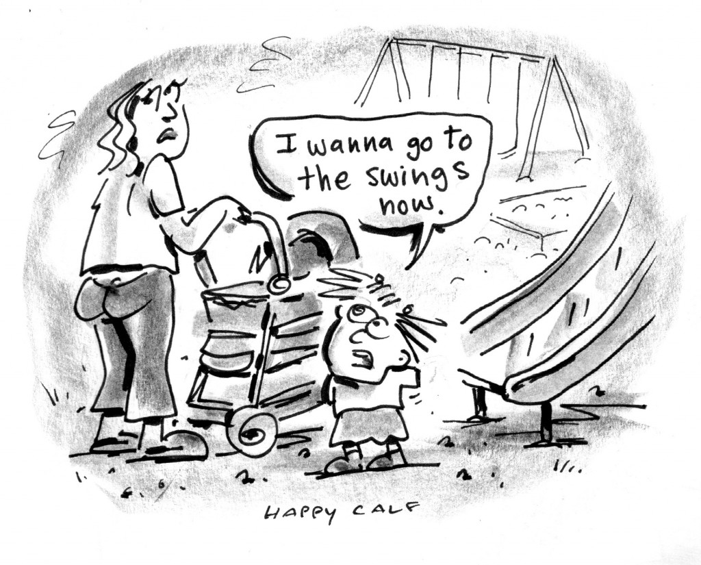 swings cartoon, happycalf, keithallyn
