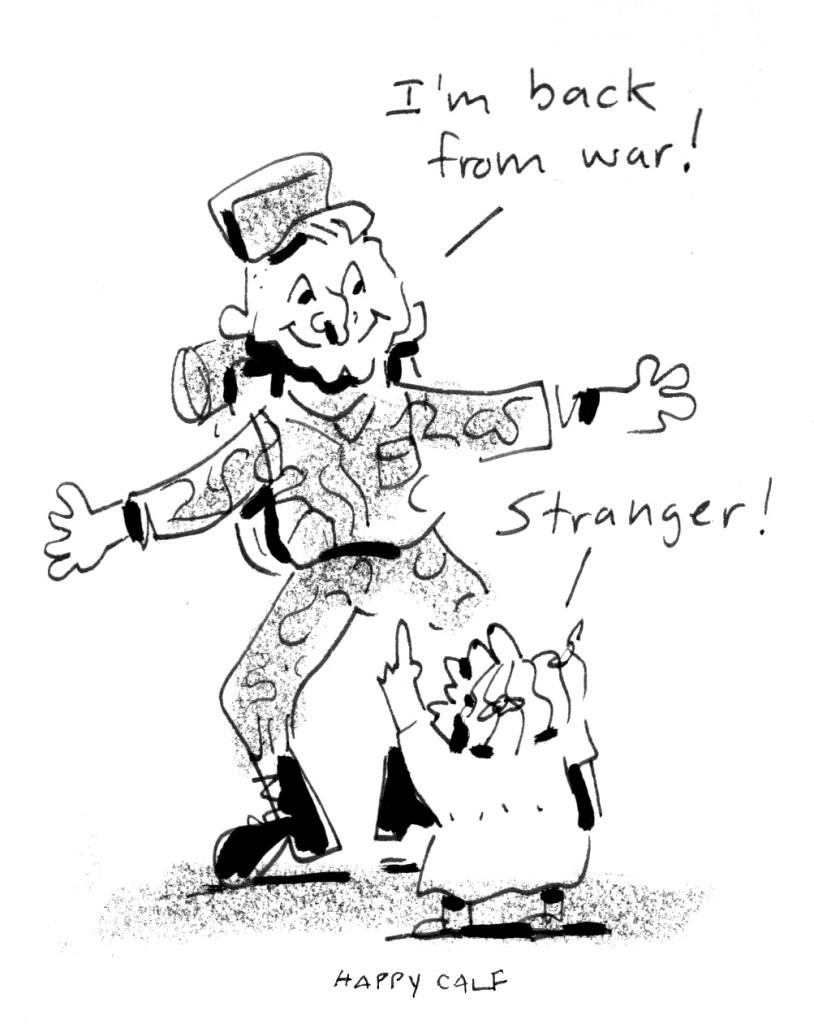 military, stranger